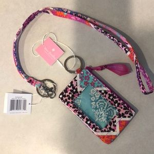 Vera Bradley lanyard and id case set